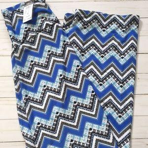 Women's Rue21 Black & Blue Maxi Skirt